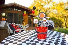 cars themed birthday party | Race-Car-themed-birthday-party-via-Karas-Party-Ideas-Cake-decor ...