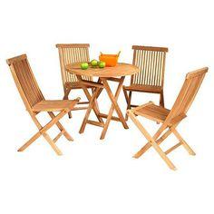 Conjunto Mesa redonda con cuatro sillas