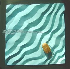 Trilobite Olenoides (take 2 inspired by Bernie Peyton) by MABONA ORIGAMI, via Flickr