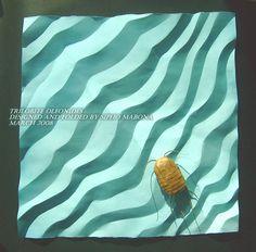 Trilobite Olenoides (take 2 inspired by Bernie Peyton) by MABONA ORIGAMI, via Flickr