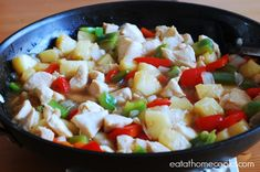 It's amazing how many different ways you can accessorize chicken, onion, garlic and green pepper in a skillet.  It's such a versatile and easy combination of food.  Everything I've made that...
