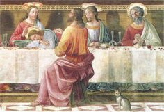Domenico Ghirlandaio (1449-1494) - Last Supper (detail), 1486 - fresco, San Marco Refectory, Florence, Italy