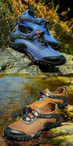 Men Lycra Mesh Breathable Outdoor Shock Absorption Hiking Shoes is  fashionable and cheap, buy best sneakers for plantar fasciitis for  family-NewChic.