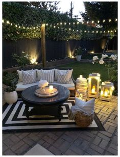 Outdoor Rooms, Outdoor Decor, Outdoor Deck Decorating, Outdoor Living Spaces, Patio Decorating Ideas On A Budget, Outdoor Candles, Porch Decorating, Backyard Patio Designs, Backyard Seating