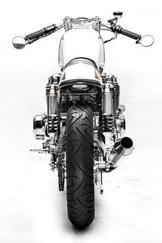 """The """"Goldenrod"""" Honda CB750 from Steel Bent Customs"""