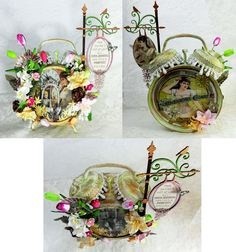 """Artfully Musing: Victorian Corset Shop Altered Alarm Clock Tutorial - To see more of my art, download free images, and learn new techniques checkout my Blog """"Artfully Musing"""" at http://artfullymusing.blogspot.com"""