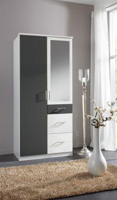 Best Kleiderschrank Click Wei Anthrazit Buy now at