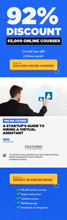 A Startup's Guide to Hiring a Virtual Assistant Management, Business  Why every startup should hire a virtual assistant (VA), answers to your questions, and how to hire and manage your VA. This course is a deep-dive into hiring a VA (virtual assistant) for your startup/software company. It answers every question I've been asked about hiring a VA. I've hired more than 20 remote workers over the p...