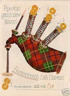"""Life Savers Butterscoth Candy Ad """"Pipe This Grand (1952)"""