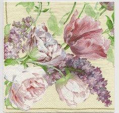 Decoupage Paper Art Napkin | Garden Roses 1