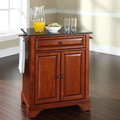 LaFayette Kitchen Island With Granite Top Base Finish: Classic Cherry    Http://