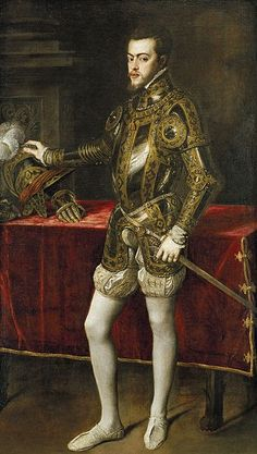 """""""When I explained the codpiece in this Philip II portrait (which is in the Mary Tudor book I'm reading) to my 10-yr-old daughter, her response was """"That could not possibly be grosser.""""     http://www.facebook.com/pages/The-Tudor-Tutor/180837450298"""