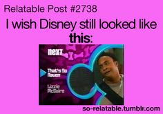 I'm so glad I don't have cable. I don't know if I'd be able to endure the agony of flipping channels and stumbling upon today's pathetic excuse for Disney Channel