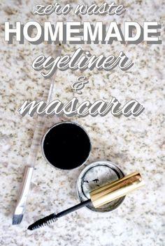 Easy homemade, zero waste eyeliner from www.goingzerowaste.com