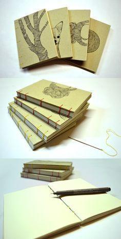 Regalos de Navidad y a??o nuevo: cuadernos con encuadernaci??n copta - Christmas and new year's gift: notebooks DIY, coptic