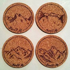 Did you know you can use a wood burning tool on cork? These cork coasters are…
