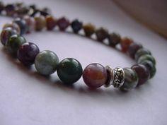 Fancy Jasper SemiPrecious Stone Bracelet  & matching earrings by CherylsHealingGems, $29.00. Free US shipping!!