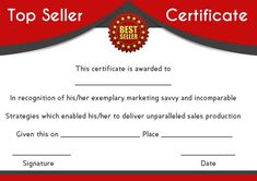 10 Best Top Seller Certificate Template Images In 2018