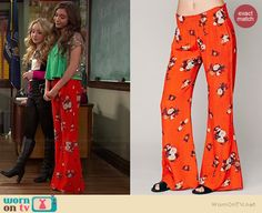 Riley's red floral pants on Girl Meets World.  Outfit Details: http://wornontv.net/36827/ #GirlMeetsWorld