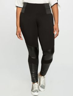 Plus Size Miracle Flawless Faux Leather Moto Legging
