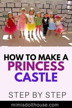 How to build an amazing castle for your princess party! Princess Party: DIY Backyard Castle Tutorial. What's a princess party without a castle? This castle tutorial will make your little princess smile and really make your party a royal affair! Easy DIY instructions for an extra special party prop! Baby Shower Princess, Princess Birthday, Princess Party, Little Princess, Party Treats, Party Desserts, A Royal Affair, Girl Parties, Princess Castle