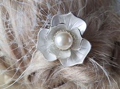 Hair Comb and a  Birdcage Veil  2 Items  Bridal Headpiece