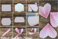 ❤️❤️ Valentines Day Decorations, Valentine Day Crafts, Paper Rosettes, Paper Flowers, Origami, Diy And Crafts, Crafts For Kids, How To Make Christmas Tree, Quilled Paper Art