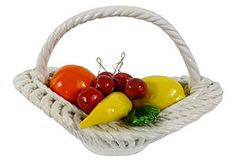 One Kings Lane - Italian Ceramic Fruit Basket