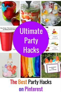 These party hacks are going to blow your mind! First, you will wonder why you didn't think of that first, but you will quickly transform those thoughts into when can I throw a big bash to show off some of these fancy projects. They are simple, but oh-so creative and I know that you guys …