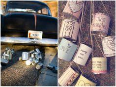 tin can wedding DIY ideas: getaway car decor | Oh Lovely Day