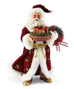 Love this Sharing the Season Santa Figurine by Possible Dreams on #zulily! #zulilyfinds
