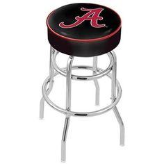 """Alabama Crimson Tide Retro Chrome Bar Stool - """"A"""""""