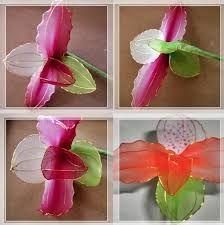 Resultado de imagen para flores de medias pantys