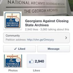 Georgia State Archives Closing 10/31/12! please help and sign the petition (you do not need to live in GA to sign) and pass it on. http://chn.ge/Omcycy   #georgiarchives