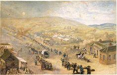 Flemington Melbourne, Samuel Charles Brees, C.1856
