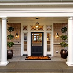Cape Cod Style House Design Ideas, Pictures, Remodel, and Decor - page 12 Front Door Design, Front Door Colors, Entrance Design, Window Design, Exterior Front Doors, Entry Doors, Front Entry, Door Entryway, Porch Entry