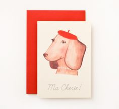 Dachshund with Beret set of 6 Cards Dachshund, Berets, Cards, Play, Beret, Weenie Dogs, Weiner Dogs, Maps, Playing Cards