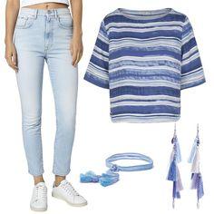 Со скидкой 70% 🔥 теперь можно подобрать этот волнующий (от слова волна 😉) топ Armedangels. Он идеально подходит к джинсам с завышенной талией, как эти ультрамодные голубые Pepe Jeans London. JiST, ул.Саксаганского 65 или jist.ua #fashion #outfitidea: #stylish & #trendy #PepeJeansLondon #jeans & #Armedangels #top help to create #chic #summer #outfit #мода #стиль #тренды #джинсы #топ #модно #стильно #киев #распродажа #скидка #лето