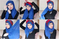 side bow hijab tutorial ♥ Muslimah fashion & hijab style. More to be snow white right? Hehe