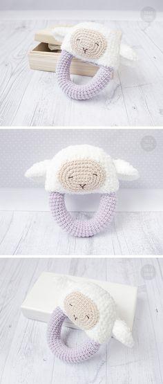 Sheep Rattle Pattern Crochet Rattle Toy Baby Rattle Teether Pattern Infant Rattle PDF Crochet Pattern