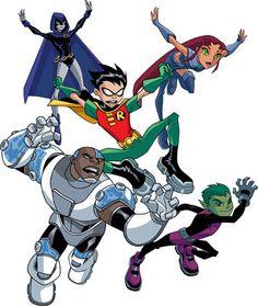 7673a914 SAM. Meet Raven, starfire, beast, Robin, and cyborg. Teen Titans