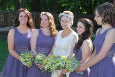 """Dusty Plum """"Fitted With Daisies"""" Bridesmaids' dresses from Free People"""