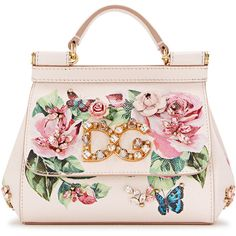 Dolce & Gabbana Sicily Floral-print Leather Tote (173.835 RUB) ❤ liked on Polyvore featuring bags, handbags, tote bags, leather purses, floral tote bag, light pink tote bag, genuine leather tote and floral tote
