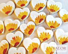 Decorated Cookies Sunflowers
