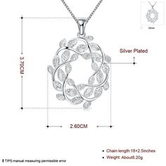 SALE N029-A silver leaf necklace brand new design pendant necklaces jewelry for women women lady gift xmas CYPRIS