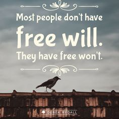 Most people don't have 'Free Will,' they have 'Free Won't.'