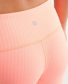 Wunder Under Crop--Love the subtle stripe! But there's no way I can wear pastel workout pants lol $72