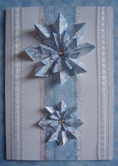 Handmade christmas card by loopy lou p, via Flickr tea bag folding card