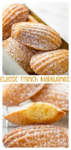 Classic French Madeleines Recipe - Baker by Nature - French Cuisine - French Dessert Recipes, French Recipes, Classic French Desserts, French Classic, German Recipes, Madeline Cookies Recipe, Madelines Recipe, Baking Recipes, Cookie Recipes
