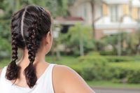 How to French Braid Hair Into Pigtails | eHow